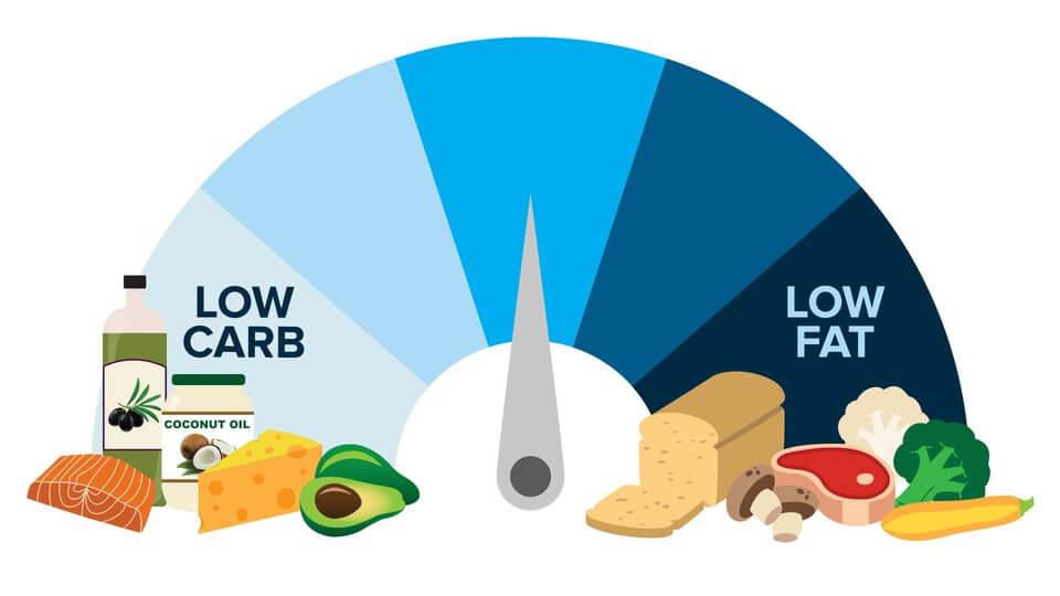 low fat vs low carbs