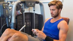mobile in gym